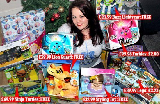 只花84元就为家人购置价值万元圣诞礼物?!论省钱我只服她