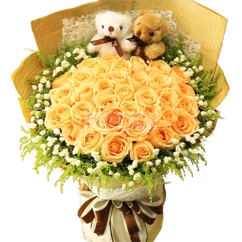 黄玫瑰花语是什么,黄玫瑰送给女朋友行吗?