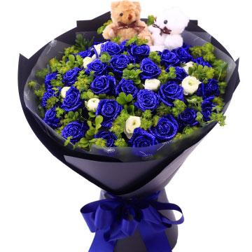 送女朋友蓝色妖姬代表什么?