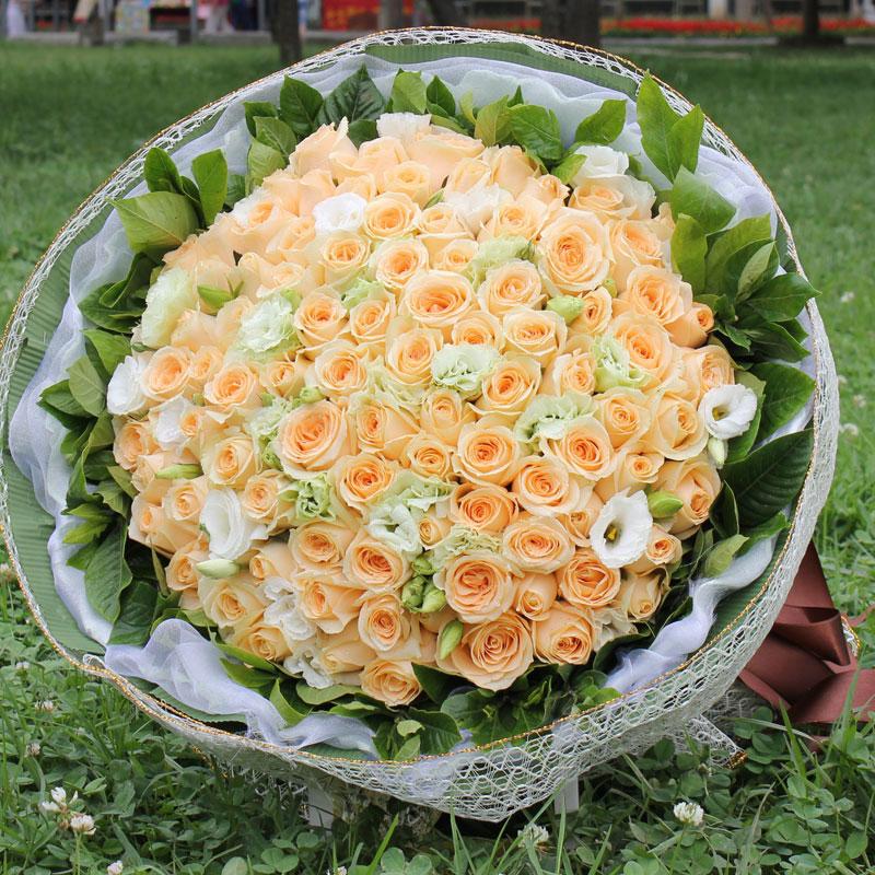 不同数量的香槟玫瑰花语有什么不同?