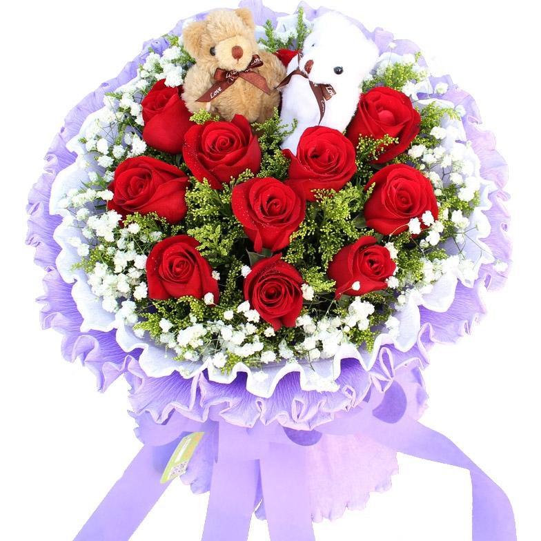 女朋友生日送什么花?