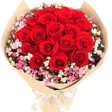 七夕情人节玫瑰多少钱一束?