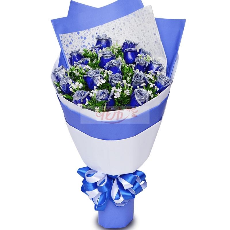 送19朵蓝色妖姬代表什么?