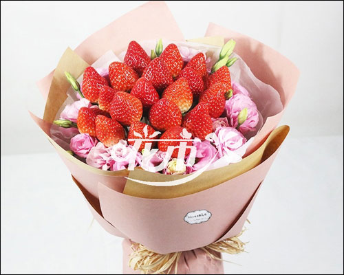 草莓花束图片大全