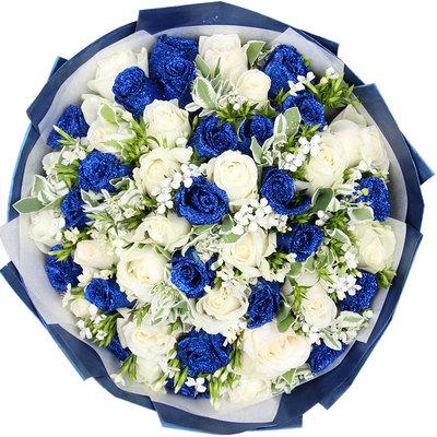 安泽县网上鲜花,蓝色精灵
