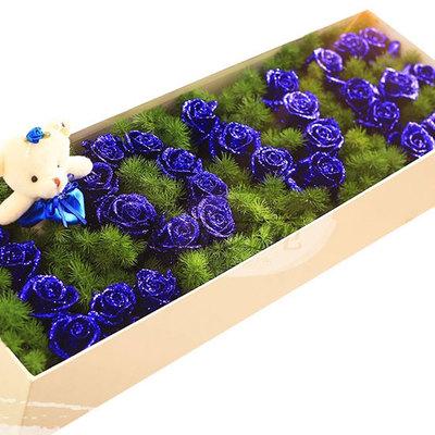 倾世容颜 (蓝色妖姬 爱情 友情 生日 情人 朋友 七夕 圣诞 礼盒)