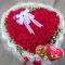 花市鲜花网_99朵心形红玫瑰巧克力组合