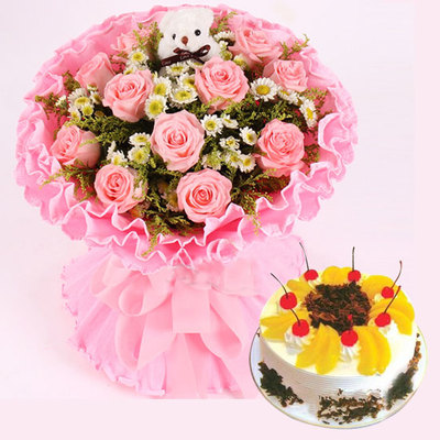爱永久组合 8寸蛋糕