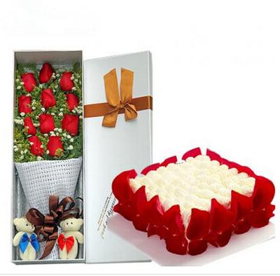 甜蜜爱语 14寸蛋糕
