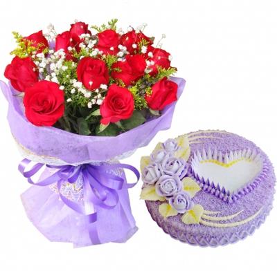 紫色恋曲 12寸蛋糕