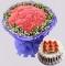 花市鲜花网_细数流年 8寸蛋糕