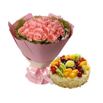 粉红之恋 8寸蛋糕
