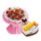 花市鲜花网_美好存在 10寸蛋糕