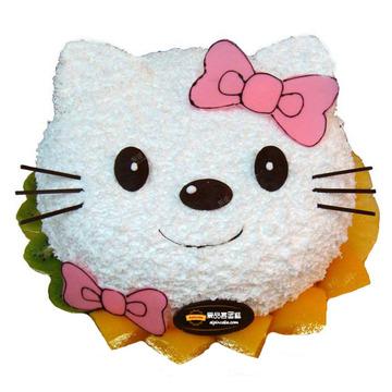 花市鲜花网_鲜花速递_微笑kitty猫 8寸