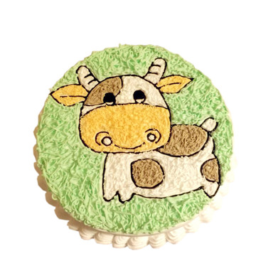 萌萌的小牛 8寸