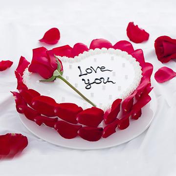 爱心瑰鲜蛋糕 12寸