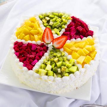 缤纷甜果蛋糕 12寸
