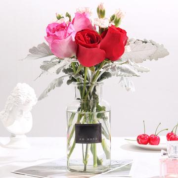 包月鲜花共4束B款(送花瓶)