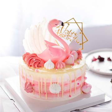 火烈鸟ins网红蛋糕 10寸