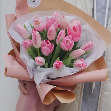 绮梦-19朵粉色郁金香