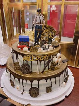 绝地求生生日蛋糕(双层)B款 14寸下10寸上